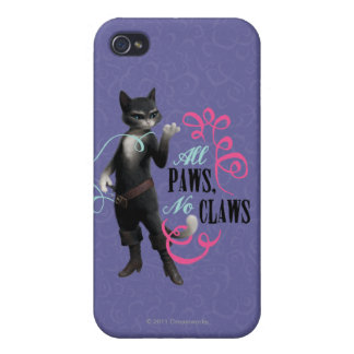 All Paws No Claws (color) iPhone 4/4S Cases