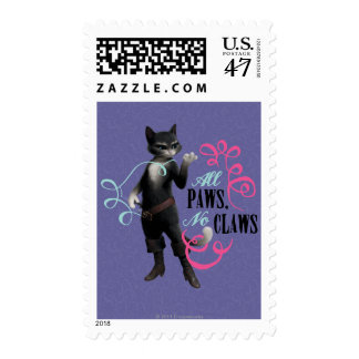 All Paws No Claws (color) Postage
