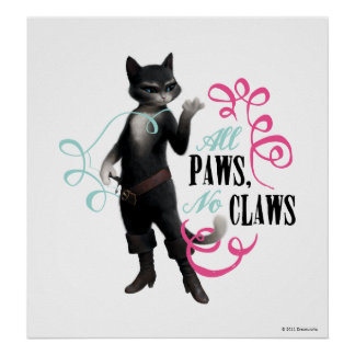 All Paws No Claws (color) Poster