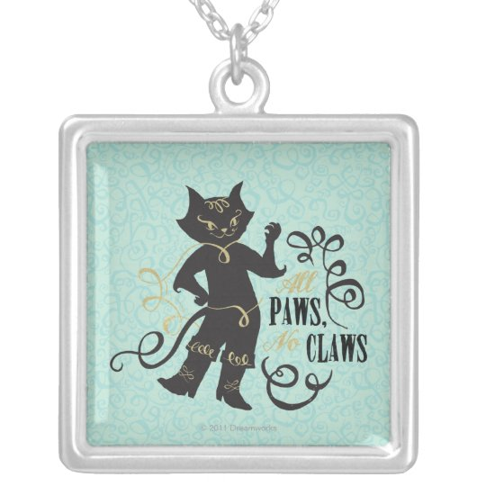 All Paws No Claws Silver Plated Necklace