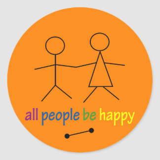 All People Be Happy Sticker