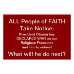 All People of Faith Take Notice: - Pres. Obama has Poster