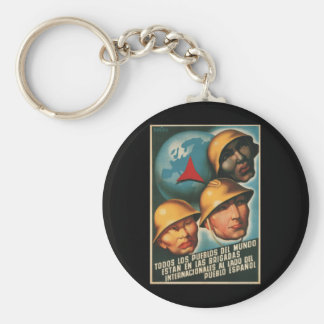 All peoples of the world are_Propaganda Poster Keychain