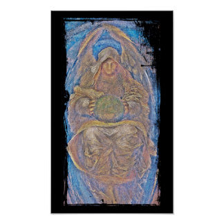 All Pervading an Angelic Creature with Glass Ball Print