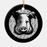 All Pigs Must Die Round Ceramic Decoration