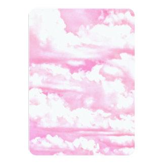 All Pink Festive Cloudy Decor Card