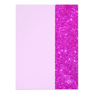 All Pink Nothing But Color Sparkle Pink 2 5.5x7.5 Paper Invitation Card