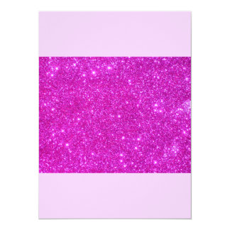 """All Pink Nothing But Color Sparkle Pink 5.5"""" X 7.5"""" Invitation Card"""