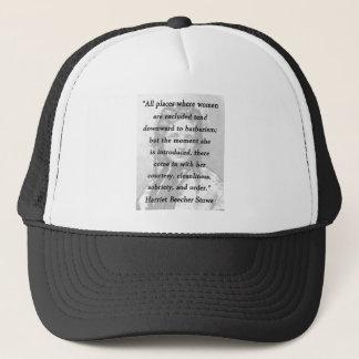 All Places - Harriet Beecher Stowe Trucker Hat