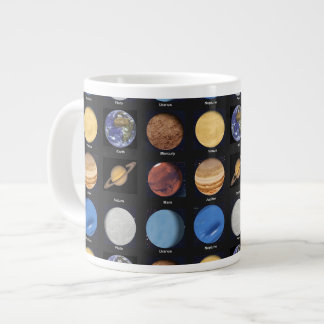 All Planets Science Photos With Names 20 Oz Large Ceramic Coffee Mug
