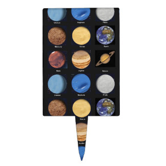 All Planets Science Photos With Names Cake Topper