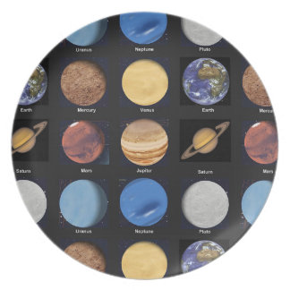 All Planets Science Photos With Names Dinner Plate