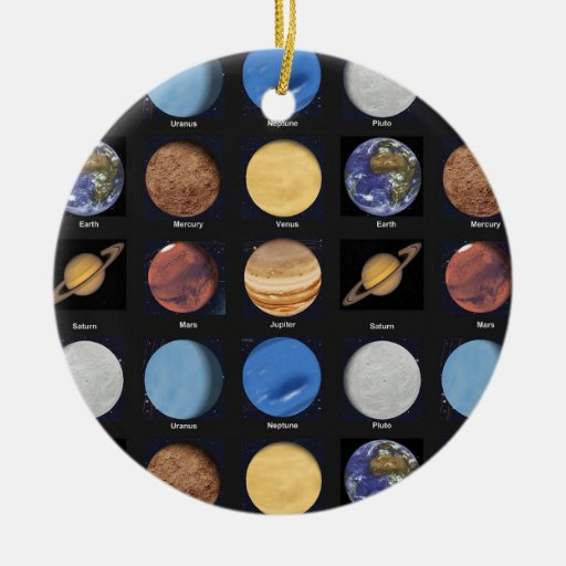 All Planets Science Photos With Names Ornament