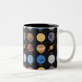 All Planets Science Photos With Names Two-Tone Coffee Mug