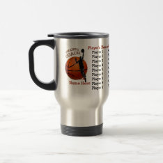 All Players Names On Gifts For A Basketball Coach Travel Mug at Zazzle