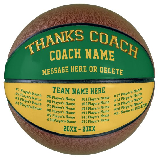All Players Names Personalized Basketball Ball