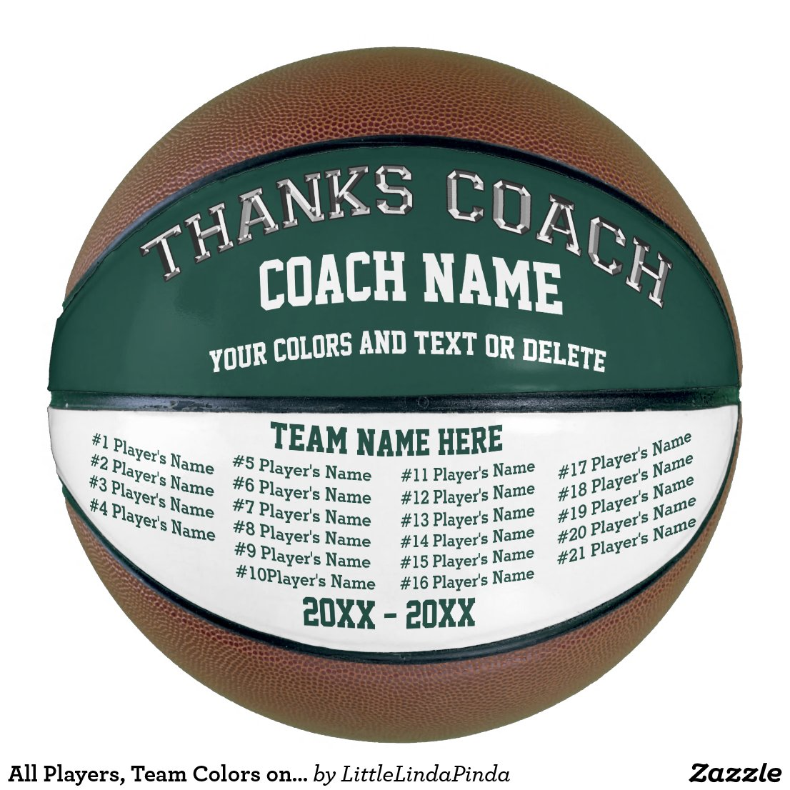 All Players, Team Colors on Basketball Coach Gifts