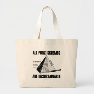 All Ponzi Schemes Are Unsustainable (Econ Humor) Bag