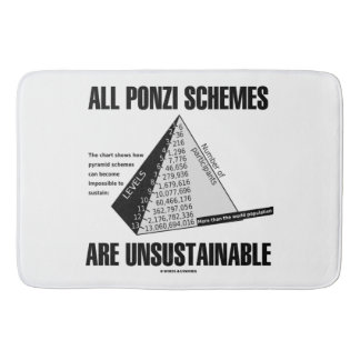 All Ponzi Schemes Are Unsustainable (Econ Humor) Bath Mat