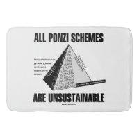 All Ponzi Schemes Are Unsustainable (Econ Humor) Bath Mats