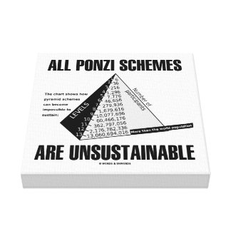 All Ponzi Schemes Are Unsustainable (Econ Humor) Canvas Print