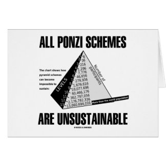 All Ponzi Schemes Are Unsustainable Econ Humor Cards