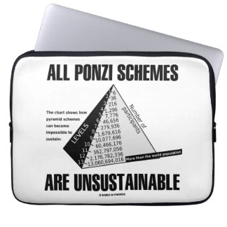 All Ponzi Schemes Are Unsustainable (Econ Humor) Laptop Sleeve