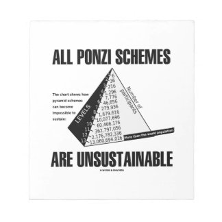 All Ponzi Schemes Are Unsustainable (Econ Humor) Notepad