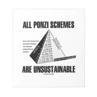 All Ponzi Schemes Are Unsustainable (Econ Humor) Notepads