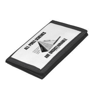 All Ponzi Schemes Are Unsustainable (Econ Humor) Tri-fold Wallet
