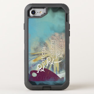 All Pottery on a blended blue background OtterBox Defender iPhone 7 Case