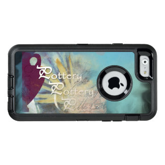 All Pottery on a blended blue background OtterBox Defender iPhone Case