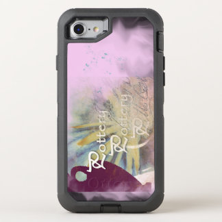 All Pottery on a blended pink background OtterBox Defender iPhone 7 Case
