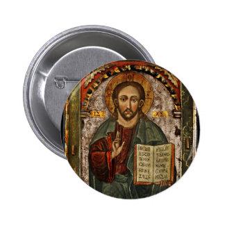All Powerful Christ - Chrystus Pantokrator Buttons