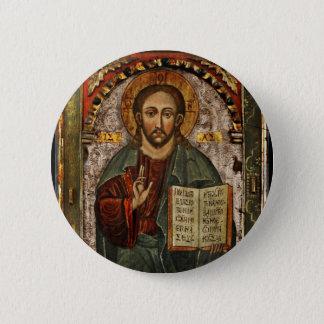 All Powerful Christ - Chrystus Pantokrator Pinback Button