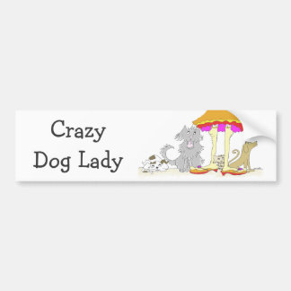 All Proceeds to Animal Charity Crazy Dog Lady Car Bumper Sticker