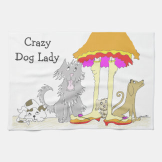 All Proceeds to Animal Charity Crazy Dog Lady Hand Towel