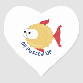 All Puffed Up Heart Stickers