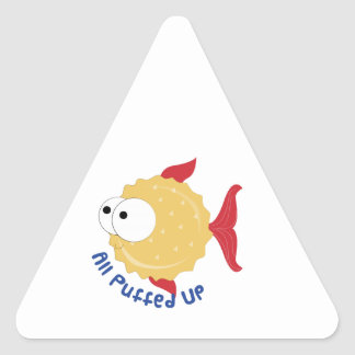All Puffed Up Triangle Sticker