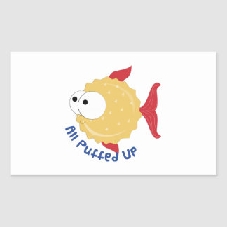 All Puffed Up Rectangle Sticker