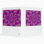 All purple burst pattern of a single repeated rose binder