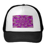 All purple burst pattern of a single repeated rose mesh hat
