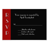 All Purpose Art Deco RSVP Response Card
