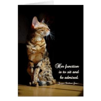 All Purpose Bengal Cat Greeting Card