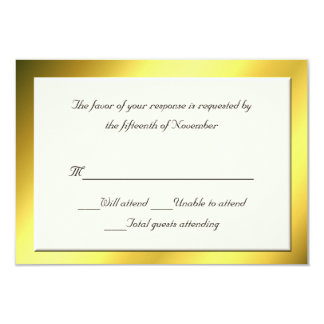 All Purpose Cream and Gold Response Card