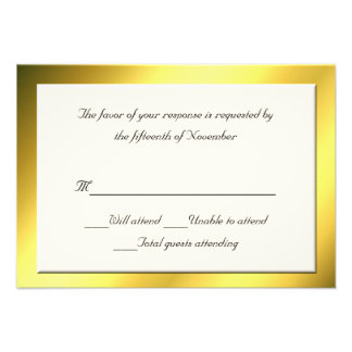 All Purpose Cream and Gold Response Card Personalized Announcement