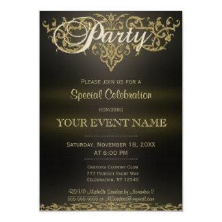 All Purpose | Gold Ornamental 5x7 Paper Invitation Card