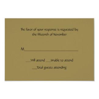 All Purpose Gold Response Card