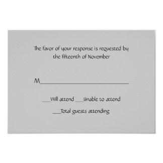 All Purpose Gray Response Card