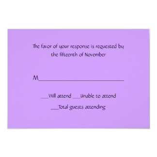 All Purpose Lavender Response Card